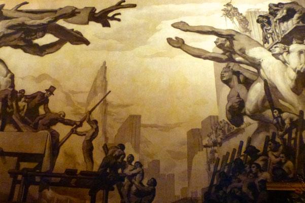 Bild: Gemälde im Eingang des Rockefeller Centers