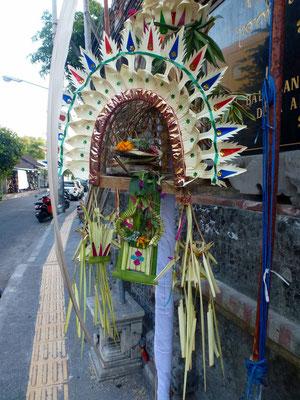 Bild: Opfergaben auf Bali - Gebogan