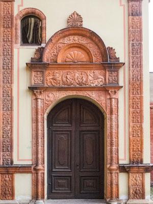 Bild: Eingangstür des Fürstenhof in Wismar