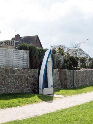 Bild: Historisches Kahn-Denkmal  in Maasholm