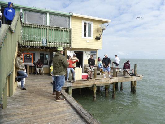 Haus auf dem Rod Reel Pier