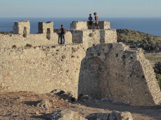 Bild: Die alten Mauerreste der Burgruine