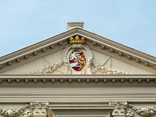 Bild: Portal des Palais Nordeinde in Den Haag