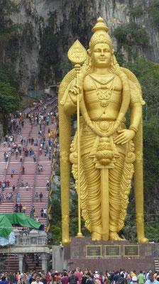 """Bild: Hindu Tempel """"Batu Caves"""" in Kuala Lumpur."""