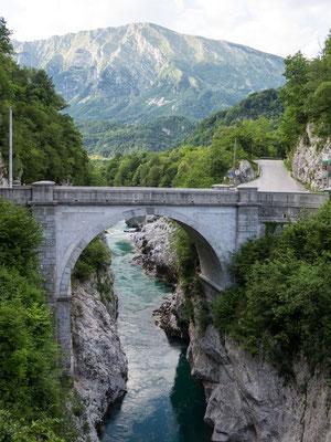 Brücke über die Soća