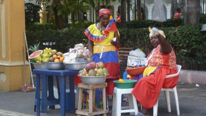 Bild: Farbige Frauen aus dem Ort Palenque