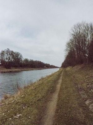 Bild: Unser Wanderweg am Elbe-Lübeck-Kanal