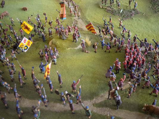Bild: Ein Modell der Schlacht