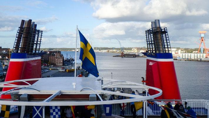 Mit der Fähre von Kiel nach Göteborg