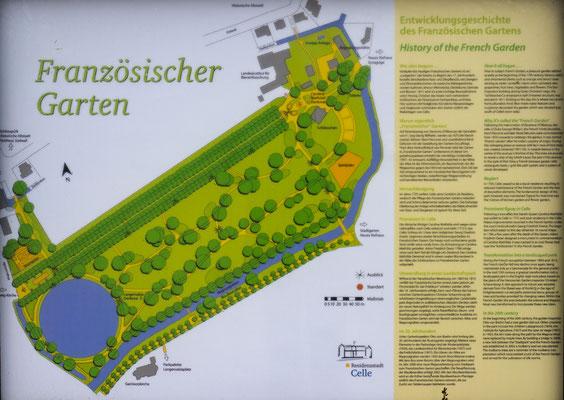 Bild: Karte des Französischen Gartens in Celle