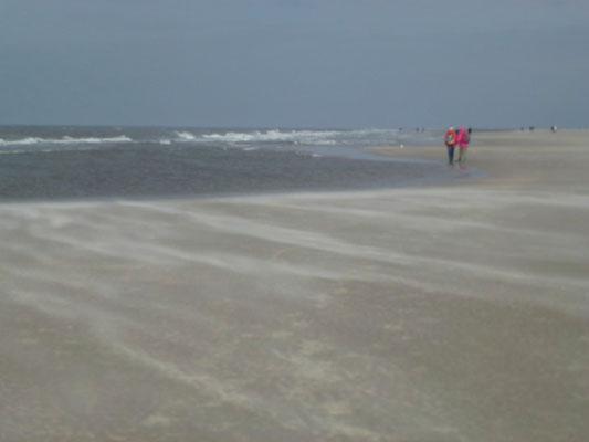 Bild: Der weite Sandstrand von St. Peter-Ording