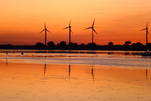 Bild: Sonnenuntergang auf Fehmarn