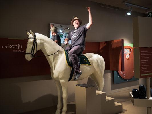 Thomas auf dem Pferd