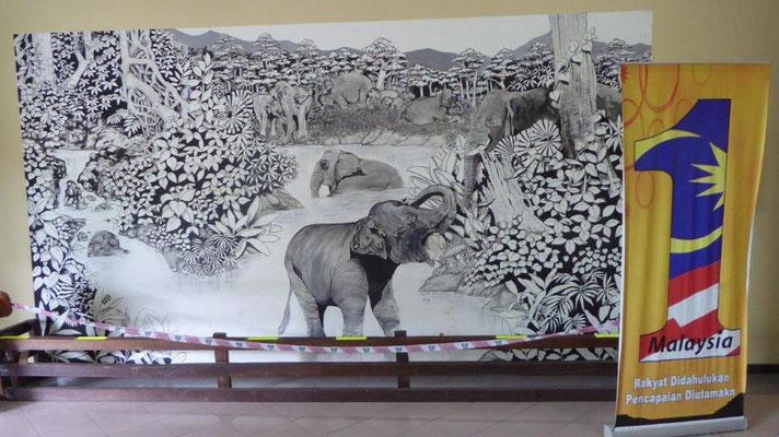Bild: Die Elefantenschutzstation bei Kuala Lumpur in Malaysia
