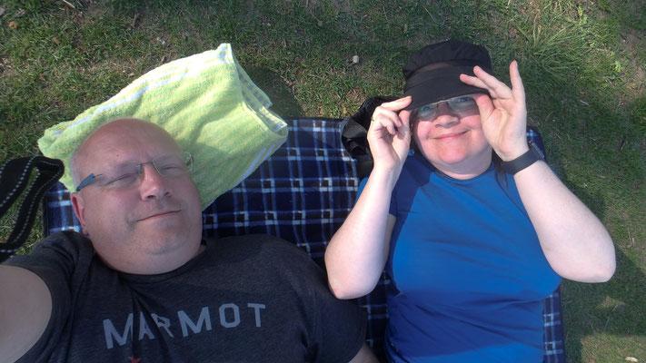 Bild: Auf unserer Picknickdecke