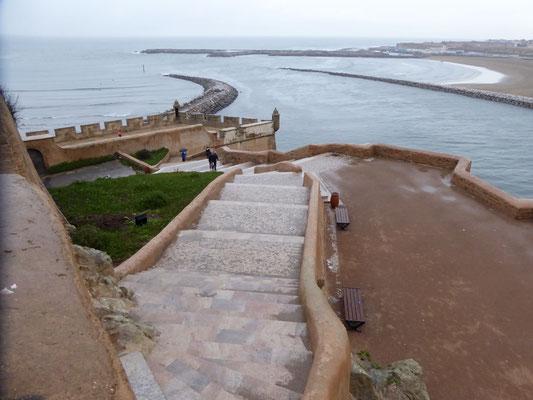 Bild: Blick von der Kasbah aufs Meer