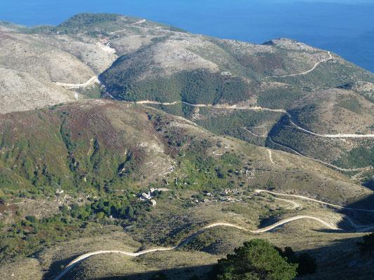 Bild: Blick über Korfu vom höchsten Berg aus