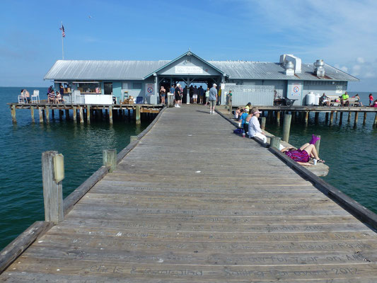 Die lange Pier auf Anna Maria Island