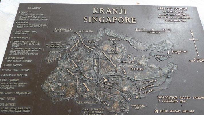 Bild: Schautafel der Kranji-Gedenkstätte