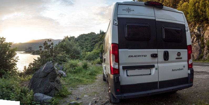 Bild: Übernachtungsplatz vor Eilan Donan Castle