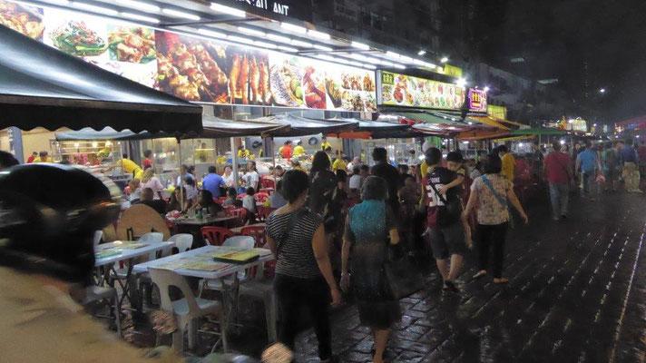 """Bild: """"Foodmaile"""" Jalan Alor in Kuala Lumpur der Hauptstadt von Malaysia"""