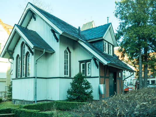 Bild: Die Alte Kapelle in Wernigerode mit der Holzfassade