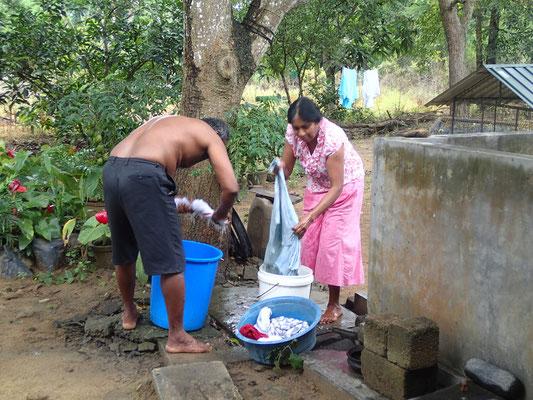 Wäsche wird gewaschen