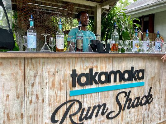 Bild: Rum Shack in der Brennerei Takamaka