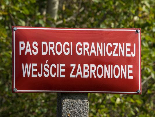 Bild: Warnhinweisschild
