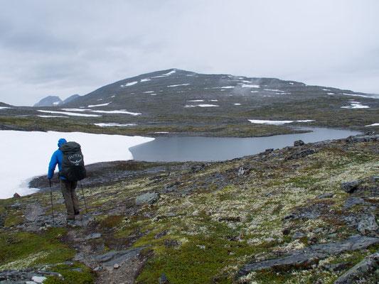 Bild: Unsere Wanderung über die Berge, vorbei am Bergsee