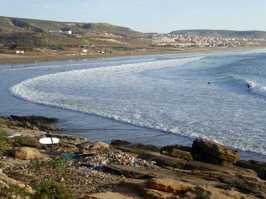 Die weite Bucht von Taghazout