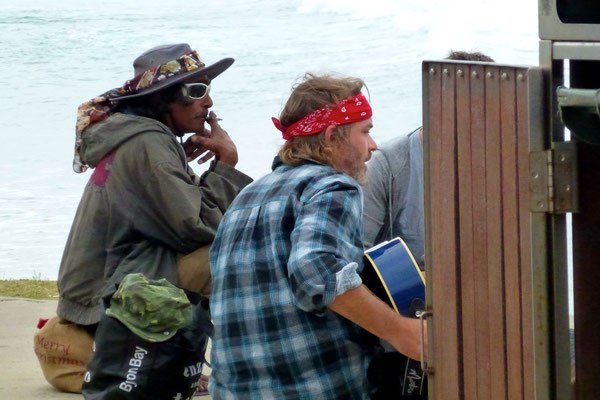 Bild: Musiker am Clarkes Bay