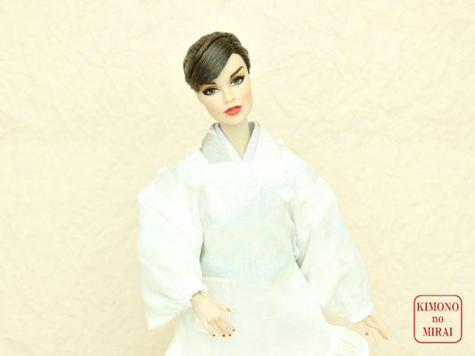 Fashion Royalty kimono,FR 着物,ドール 割烹着