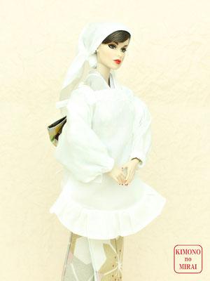 Fashion Royalty kimono,FR 着物,人形 割烹着