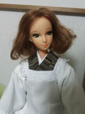 リカちゃんママ 着物,織江 和服,初代リカママ 割烹着