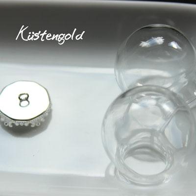 Glaskugel Größe M ∅2,5cm in silber