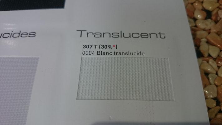 Transluzent Lichtdurchlässig 307T 30% 0004 Blanc Clipso / Meyer Spanndecken