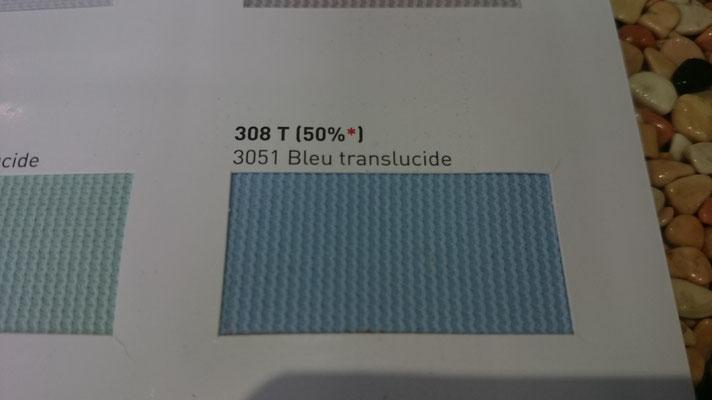 Transluzent Lichtdurchlässig 308T 50% 3051 Bleu Clipso / Meyer Spanndecken