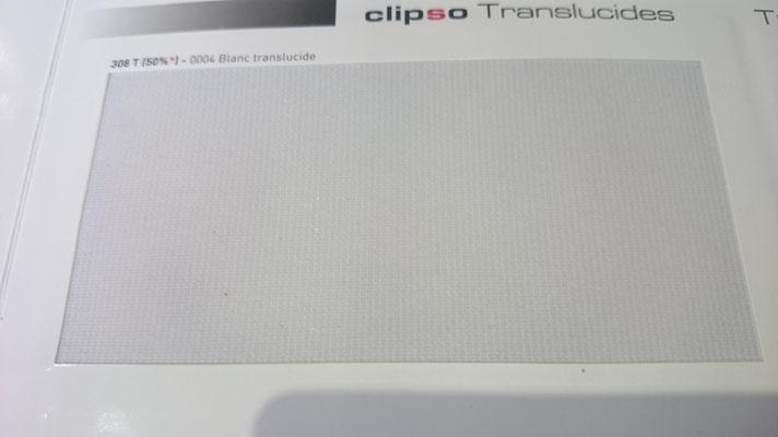 Transluzent Lichtdurchlässig 308T 50% 0004 Blanc Clipso / Meyer Spanndecken