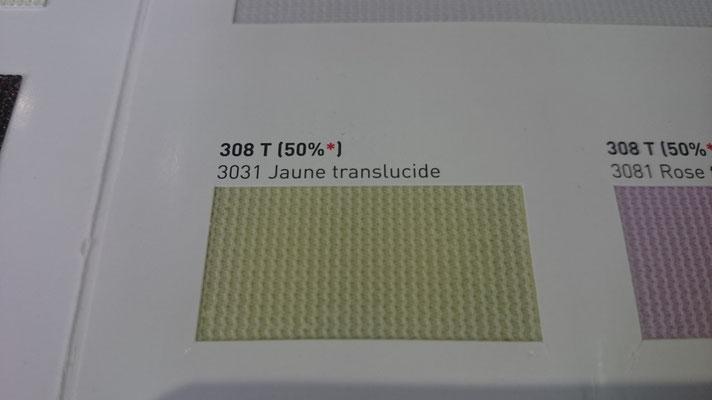 Transluzent Lichtdurchlässig 308T 50% 3031 Jaune Clipso / Meyer Spanndecken