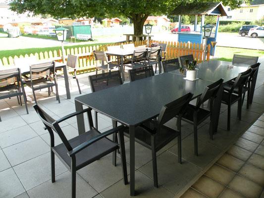 Teilansicht Terrasse für Gäste