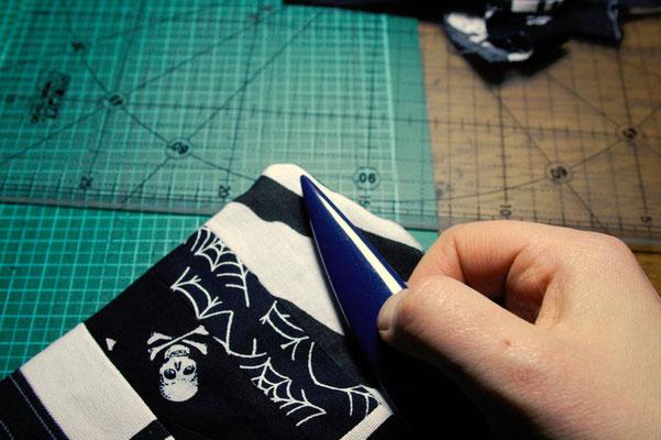 Punk Patchwork - Mug Rug nähen und mehr - Wenden - Zebraspider DIY Blog