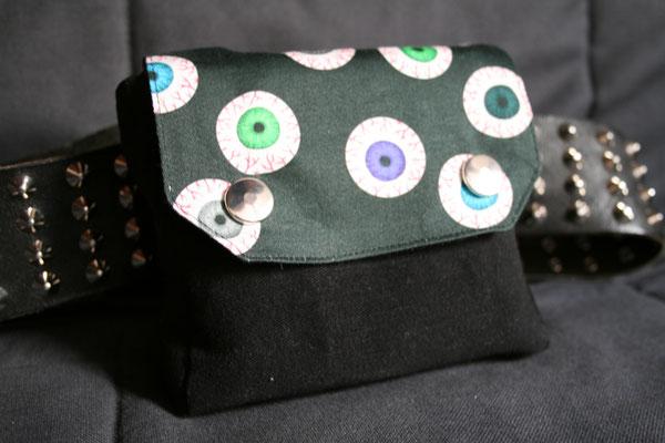 Nähen ist wie zaubern können - Auftrag Gürteltasche Augen  - Zebraspider DIY Anti-Fashion Blog