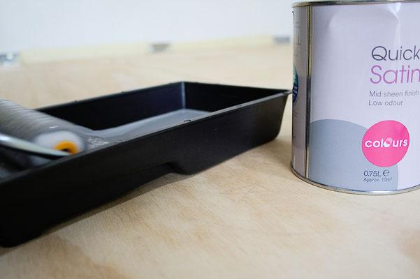 Zuschneide- und Siebdrucktisch - graue Farbe - Zebraspider DIY Anti-Fashion Blog