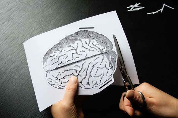 Halloween DIYs Part 2 - paper garland brain cutting - Zebraspider Eco Anti-Fashion