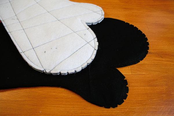 Ofenhandschuhe und Topflappen mal anders - außen und innen - Zebraspider DIY Blog