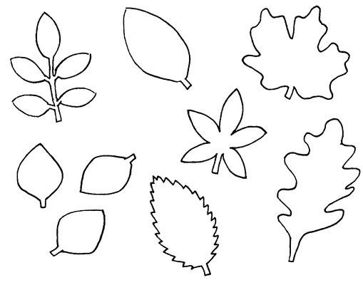 Halloween DIYs Part 1 - autumn leafs template - Zebraspider Eco Anti-Fashion