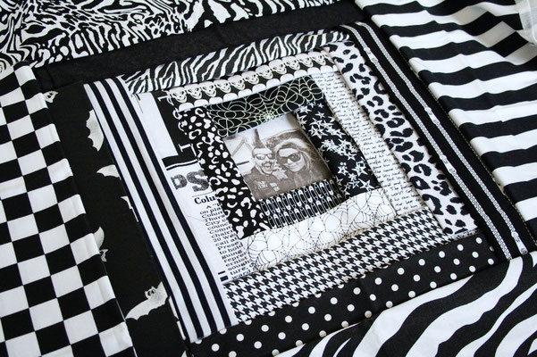 DIY Punk Wedding Gifts - Patchwork log cabin - Zebraspider DIY Blog