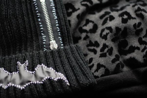 DIY, Punk und Roller Derby - 1 Wochenende - Mütze und Loopschal Details - Zebraspider DIY Anti-Fashion Blog