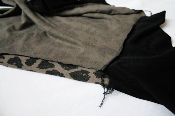 Zweites Leben für den Leopard - Seiten nähen - Zebraspider DIY Anti-Fashion Blog